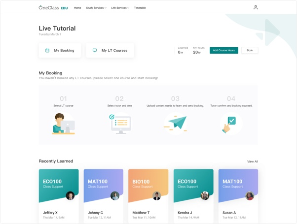 Live Tutorial Page